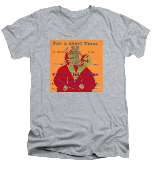 Eng And Chang Men's V-Neck T-Shirt