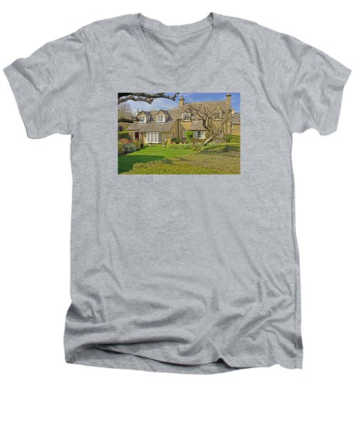 English Cottage Men's V-Neck T-Shirt