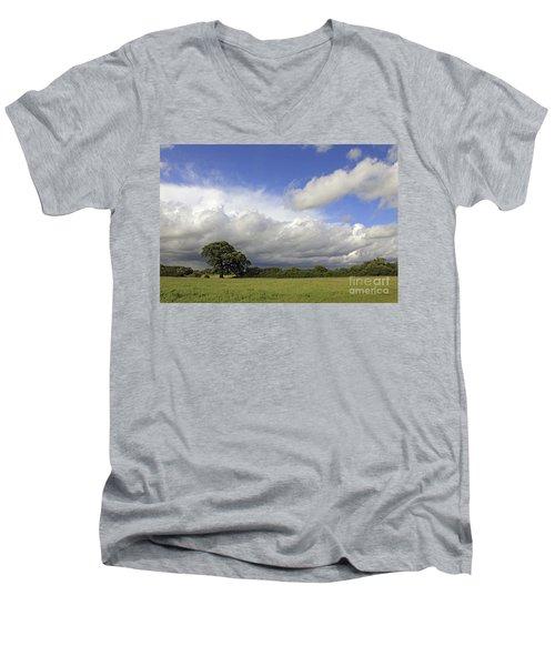 English Oak Under Stormy Skies Men's V-Neck T-Shirt