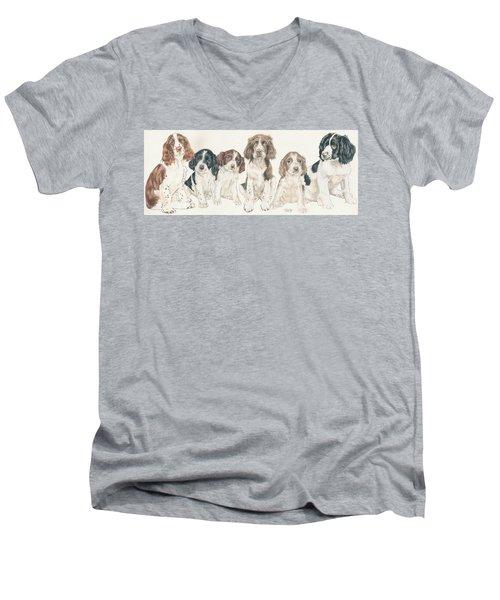 English Springer Spaniel Puppies Men's V-Neck T-Shirt