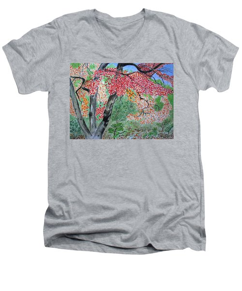 Enjoying Lost Maples Men's V-Neck T-Shirt