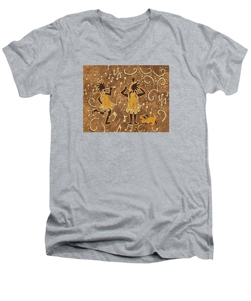 Enjoying The Music Men's V-Neck T-Shirt by Katherine Young-Beck
