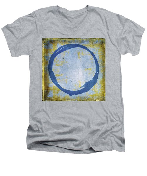 Enso No. 109 Blue On Blue Men's V-Neck T-Shirt