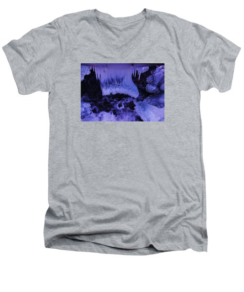 Men's V-Neck T-Shirt featuring the photograph Enter The Lair by Sean Sarsfield