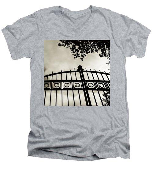 Entrances To Exits - Gates Men's V-Neck T-Shirt by Steven Milner