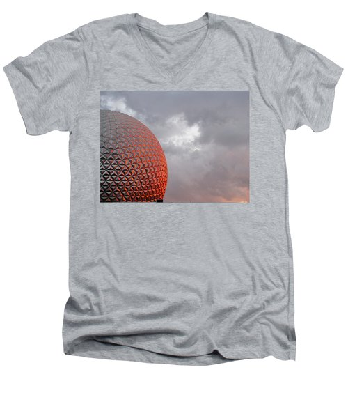 Men's V-Neck T-Shirt featuring the photograph Epcot by Greg Simmons