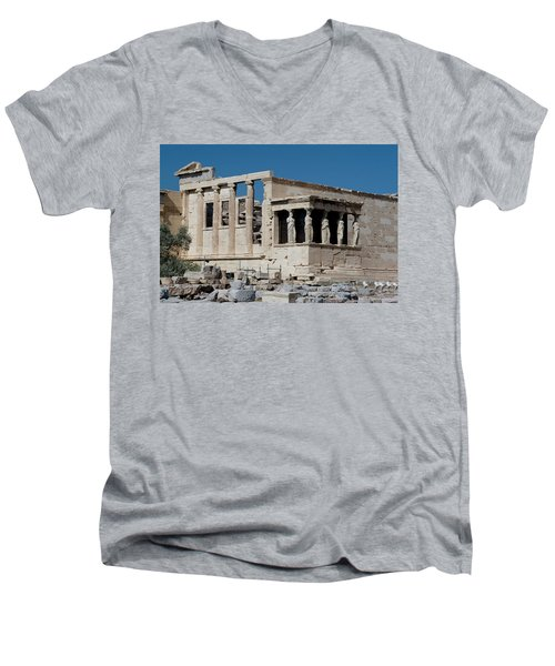 Erechtheion With The Porch Of Maidens Men's V-Neck T-Shirt