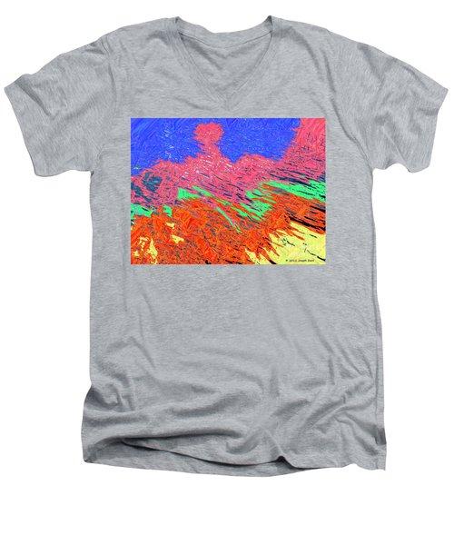 Erupting Lava Meets The Sea Men's V-Neck T-Shirt