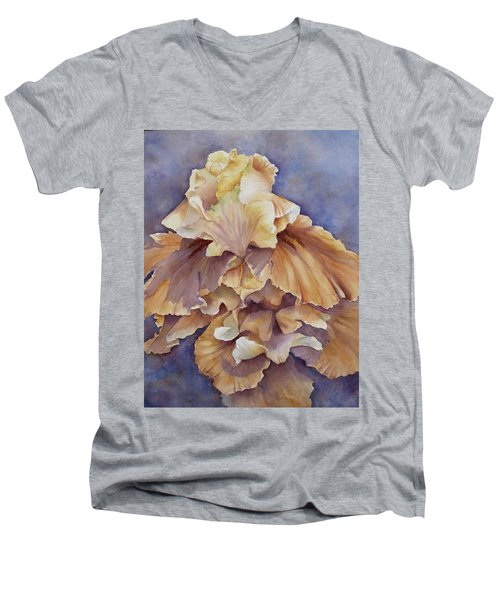 Eruption II--flower Of Rebirth Men's V-Neck T-Shirt