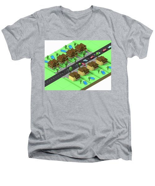Escape Suburbia Men's V-Neck T-Shirt