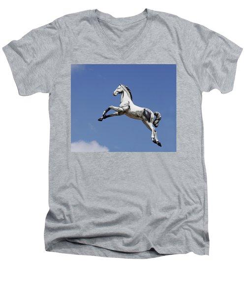 Escaped Carousel Horse Men's V-Neck T-Shirt