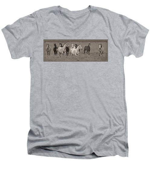 Escapees From A Lineup Men's V-Neck T-Shirt by Wes and Dotty Weber