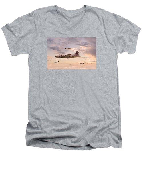Escort Service Men's V-Neck T-Shirt by Pat Speirs