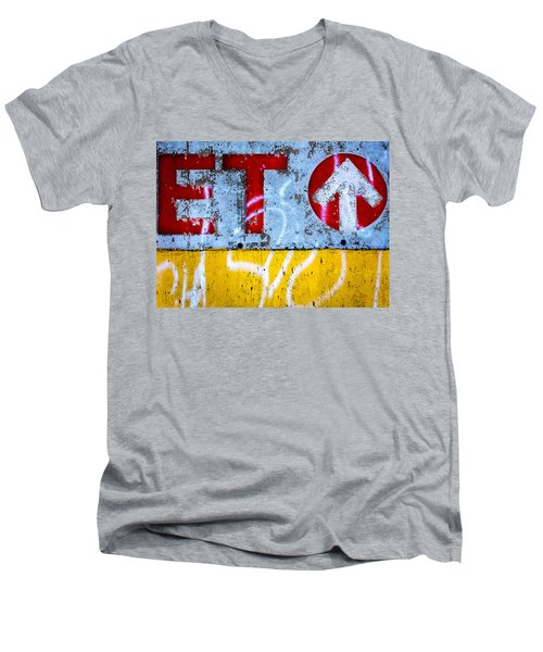 ET  Men's V-Neck T-Shirt by Bob Orsillo