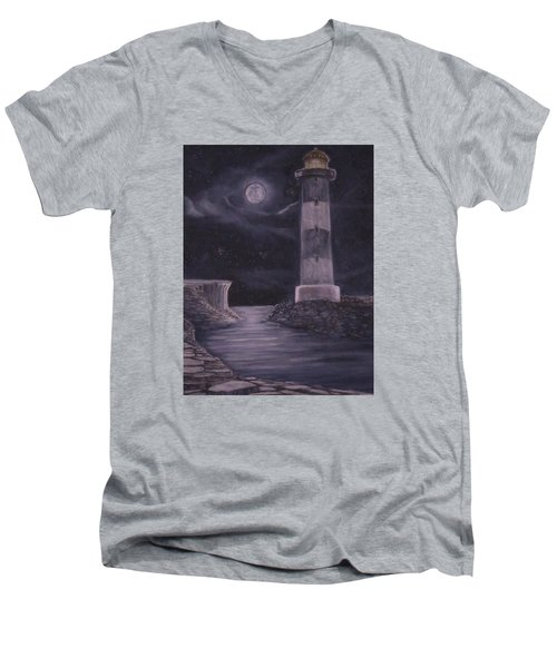 Evening At Point Lookout Men's V-Neck T-Shirt