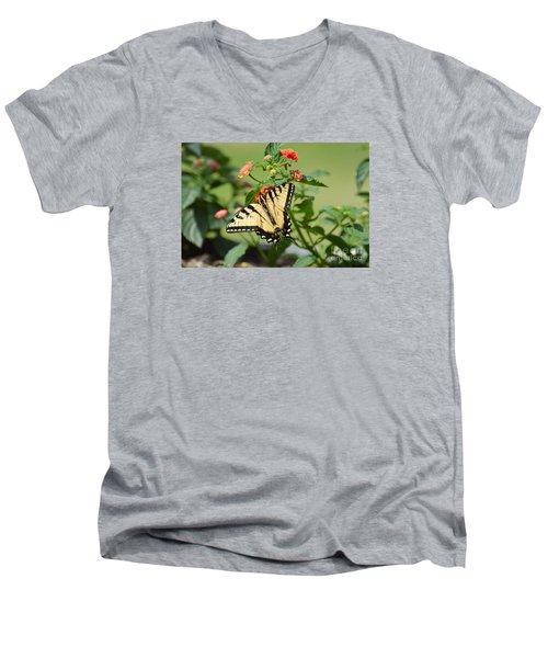Evening Beauty Men's V-Neck T-Shirt by Debbie Green