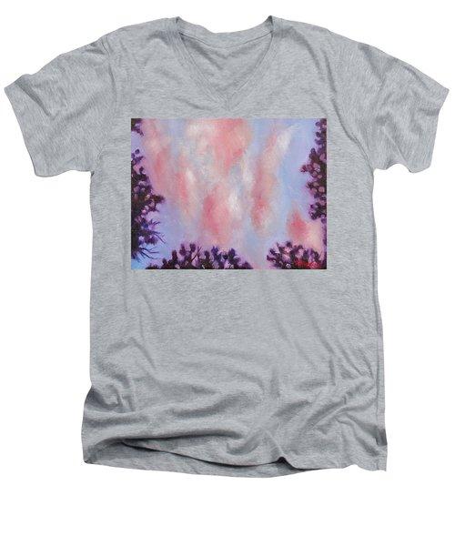 Evening Clouds Men's V-Neck T-Shirt