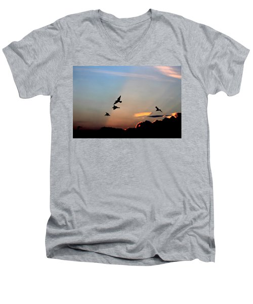Evening Dance In The Sky Men's V-Neck T-Shirt by Bruce Patrick Smith