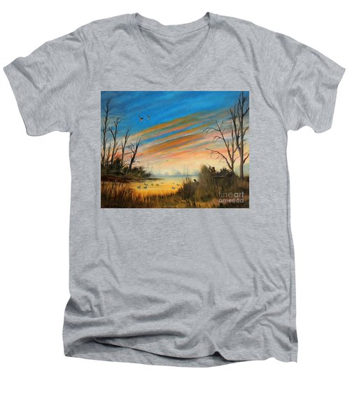 Evening Duck Hunt Men's V-Neck T-Shirt