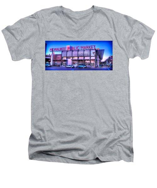 Evening Milwaukee Public Market Men's V-Neck T-Shirt