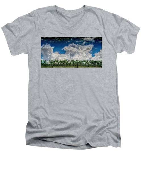 Reflected Everglades 0203 Men's V-Neck T-Shirt