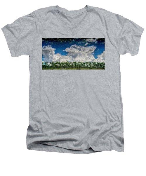 Reflected Everglades 0203 Men's V-Neck T-Shirt