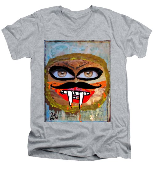 Evil Cheese Sandwhich Men's V-Neck T-Shirt