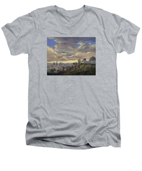 Expecting Rain Men's V-Neck T-Shirt by Jane Thorpe