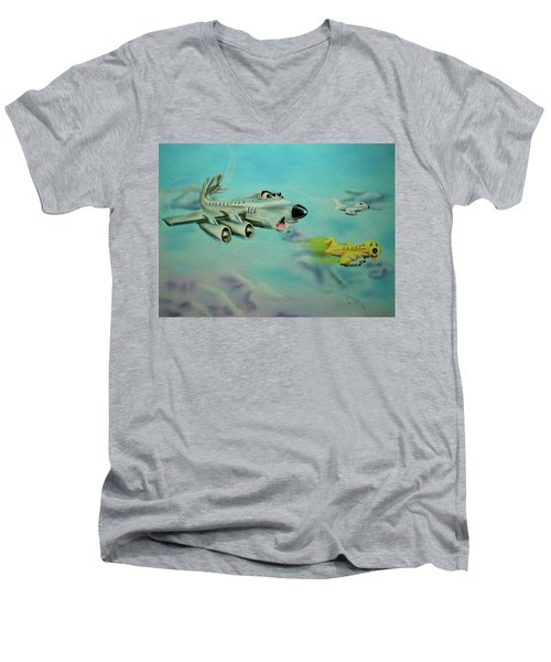 Extreme Airline Mergers Men's V-Neck T-Shirt