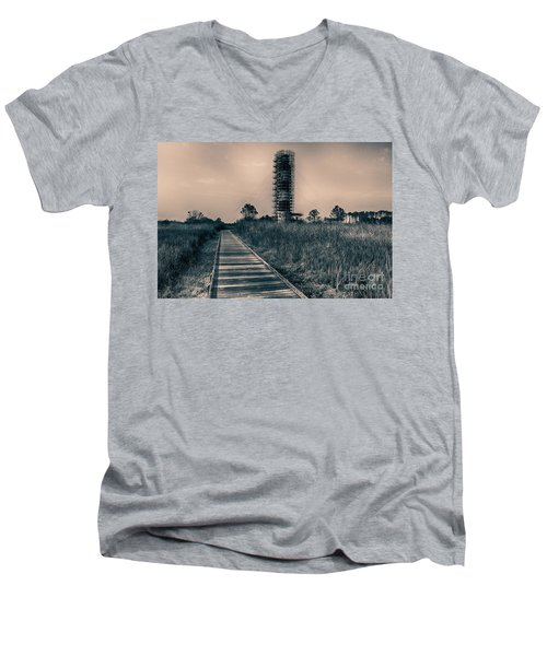 Extreme Makeover Lighthouse Edition Men's V-Neck T-Shirt by Tony Cooper