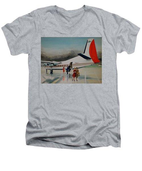 F-27 At Columbus Ohio Men's V-Neck T-Shirt