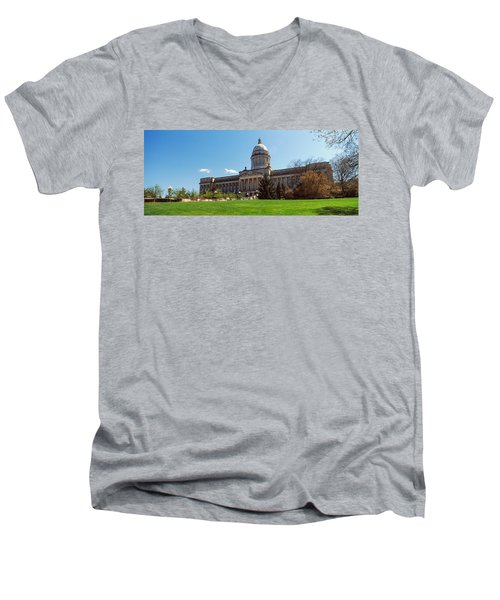 Facade Of State Capitol Building Men's V-Neck T-Shirt