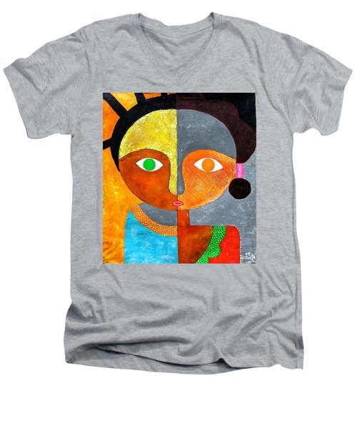 Face 2 Men's V-Neck T-Shirt
