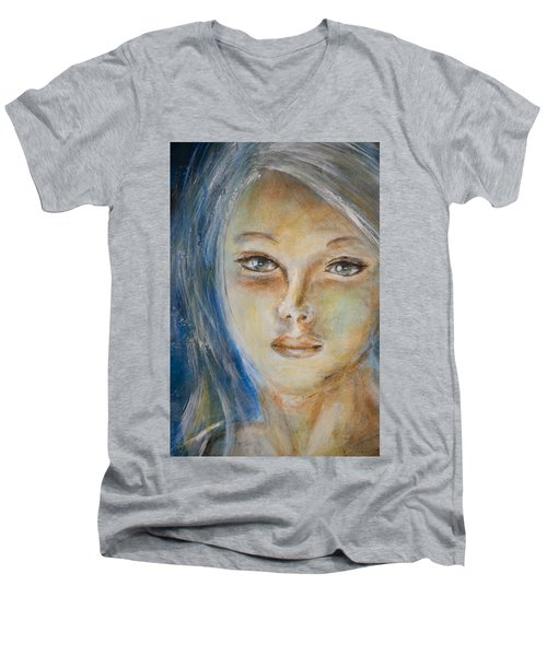 Face Of An Angel Men's V-Neck T-Shirt