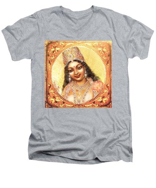 Face Of The Goddess - Lalitha Devi  Men's V-Neck T-Shirt
