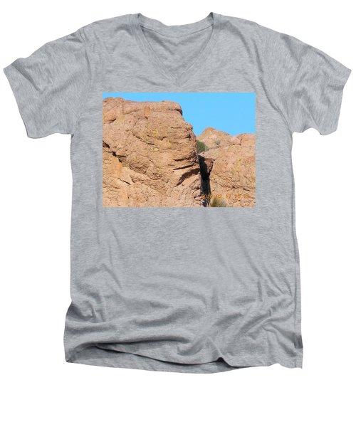 Face Of The Monolith Men's V-Neck T-Shirt