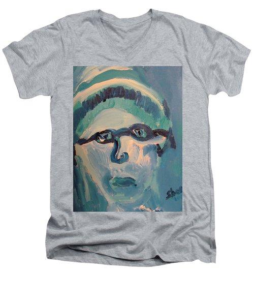 Face Three As Grandpa Snowman Men's V-Neck T-Shirt