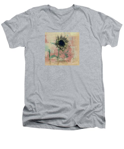 Men's V-Neck T-Shirt featuring the painting Faded Love by Janice Westerberg