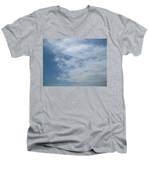 Fair Skies Of Summer Men's V-Neck T-Shirt