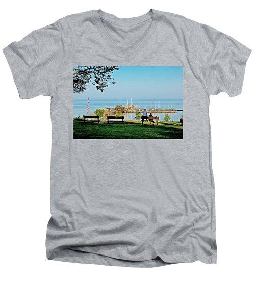 Fairhope Alabama Pier Men's V-Neck T-Shirt