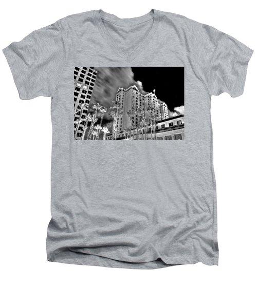 Fairmont From Plaza De Cesar Chavez Men's V-Neck T-Shirt