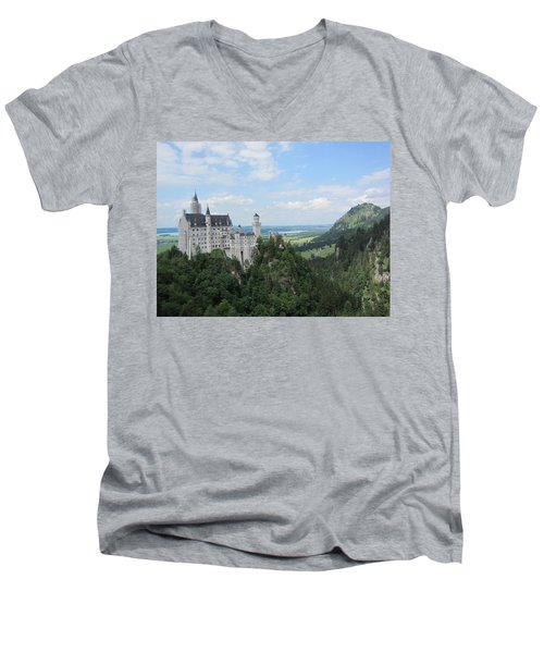 Fairytale Castle - 1 Men's V-Neck T-Shirt by Pema Hou