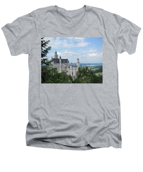 Men's V-Neck T-Shirt featuring the photograph Fairytale Castle by Pema Hou
