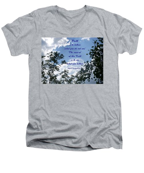 Men's V-Neck T-Shirt featuring the photograph Faith by Aimee L Maher Photography and Art Visit ALMGallerydotcom
