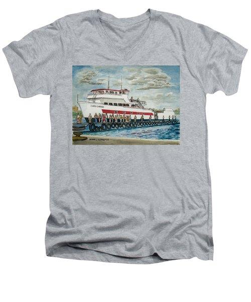 Fajardo Ferry From Vieques Puerto Rico Men's V-Neck T-Shirt