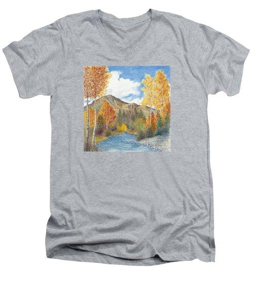 Fall Aspens Men's V-Neck T-Shirt