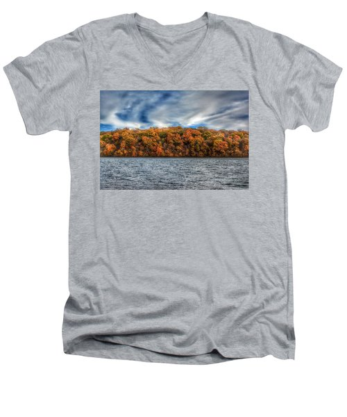 Fall At The Lake Men's V-Neck T-Shirt