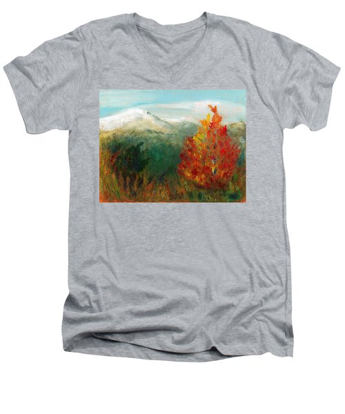 Fall Day Too Men's V-Neck T-Shirt by C Sitton