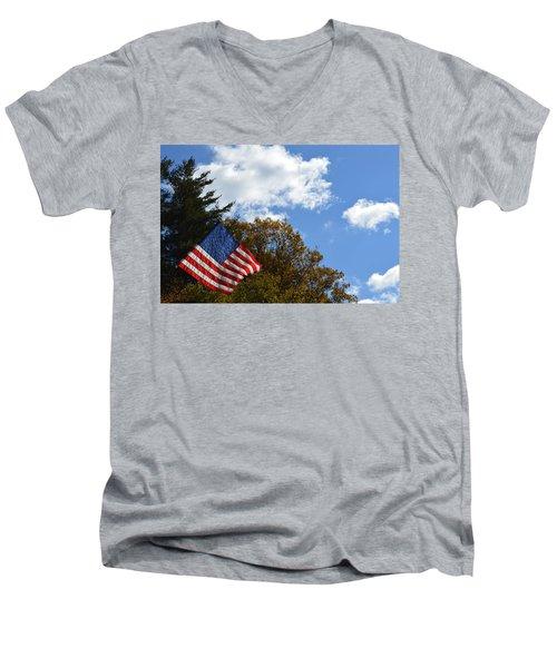 Fall Flag Men's V-Neck T-Shirt