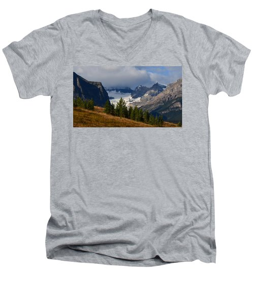 Fall In The Mountains Men's V-Neck T-Shirt by Cheryl Miller